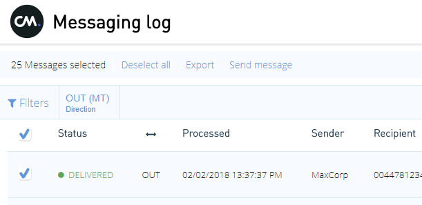 How to reply/resend messages from Messaging log | CM Help Center